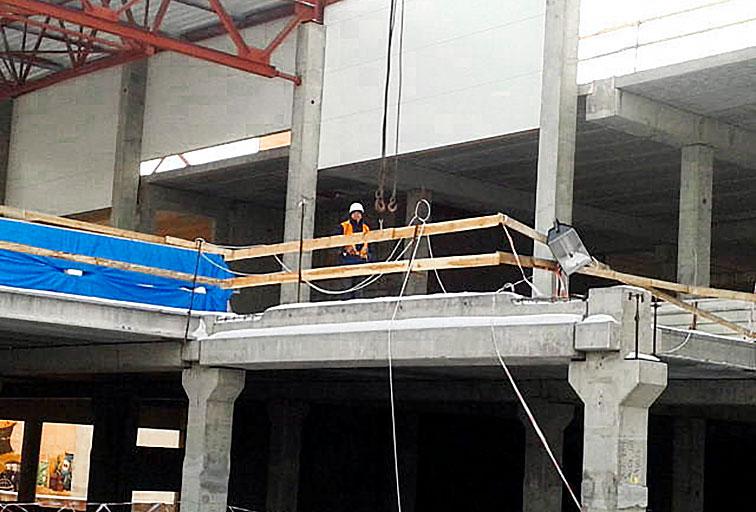 Гипермаркет «Ашан» в ТРЦ «Проспект» - Строительная компания «Riola»