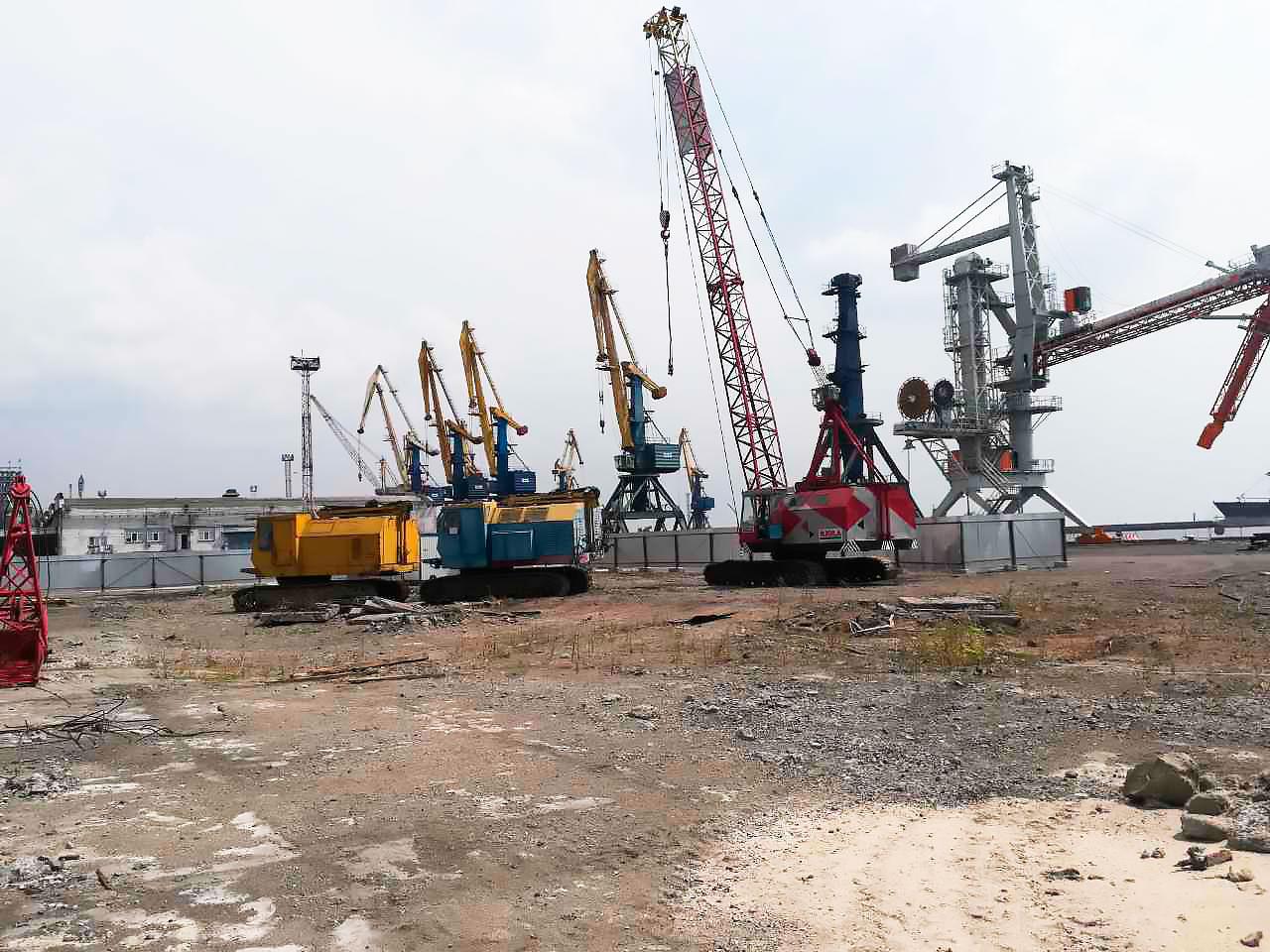 Зерновой терминал. Строительство. г. Мариуполь - Строительная компания «Riola»