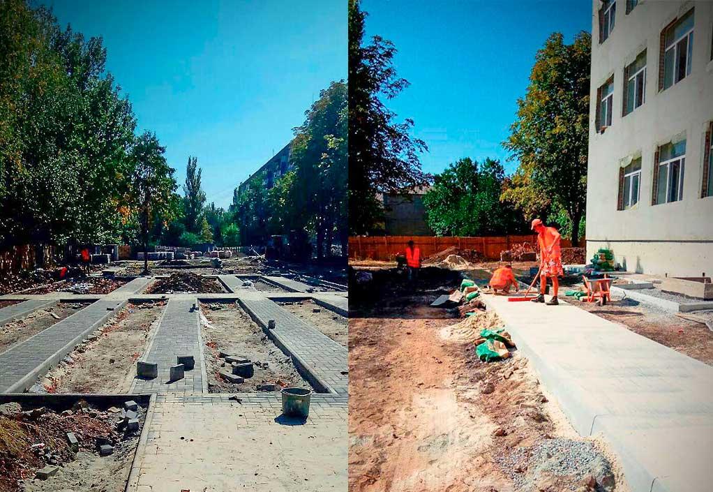 Проводятся работы по реконструкции опорной школы N 13 в городе Славянск