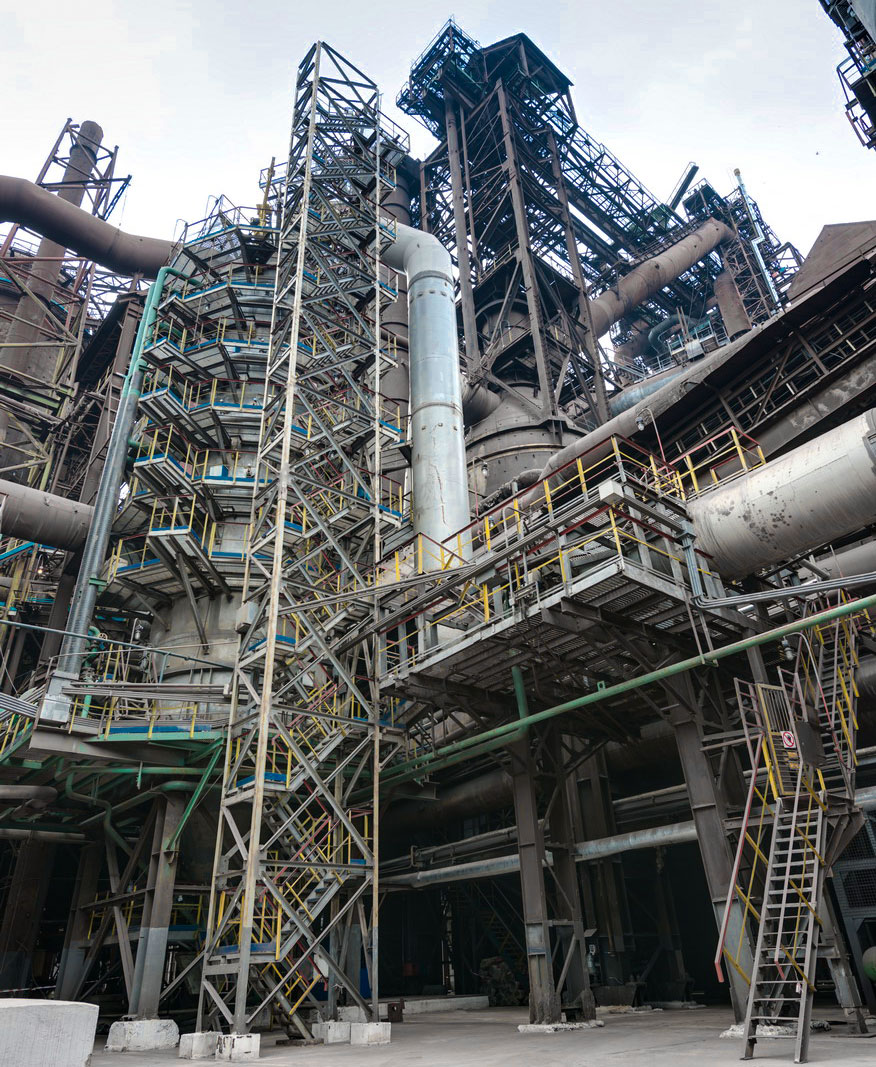 Blast Furnace Construction : Riola modul ltd steelworks «azovstal blast furnace